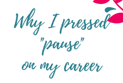 Why I Pressed Pause on My Career- EP! www.theshortesttallman.com