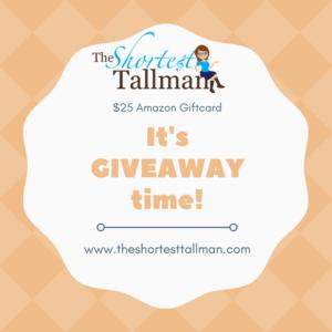 Giveaway 2017! www.theshortesttallman.com
